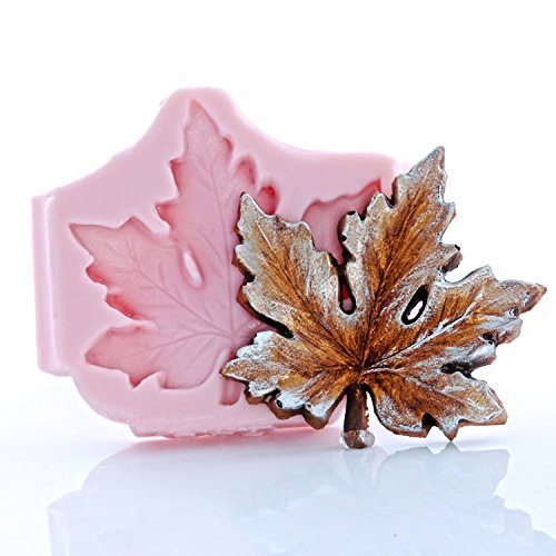 Silicone Maple Leaf Mold, Fondant, Candy, Chocolate, Food Safe, Polymer Clay, Resin Mold, Epoxy and so much ()