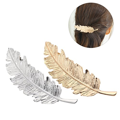 Pixnor 2pcs Leaf Design Punk Women Girl Hair Clip Pin Claw B