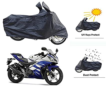 Motrol Yamaha R15/R15 V3/R15 S Bike Body Cover - Black