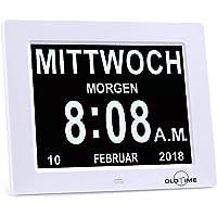 "OLDTIME 8"" Reloj Calendario Reloj Alzheimer |"