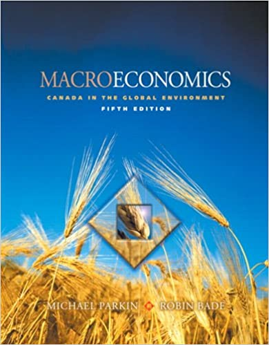 Canada in the Global Environment 5th Edition Macroeconomics