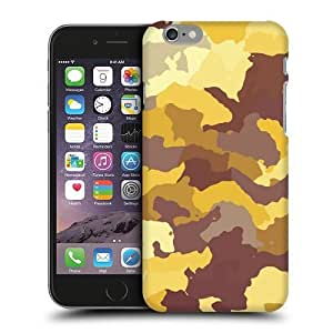 Case Fun Yellow Camouflage Snap-on Hard Back Case Cover for Apple iPhone 6 (4.7 inch) by icecream design