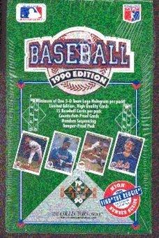 1990 Upper Deck High Number Baseball Box - 36P