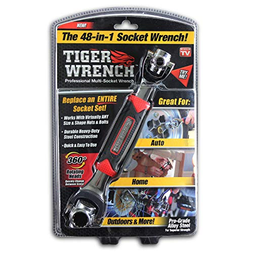 Universal Wrench 48 Tools In One Socket,Works with Spline Bolts,6-Point,12-Point,Torx,Square Damaged Bolts and Any Size Standard or Metric by Tiger wrench