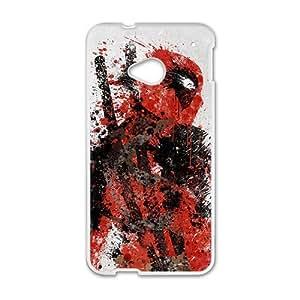 Deadpool White HTC M7 case by Maris's Diary