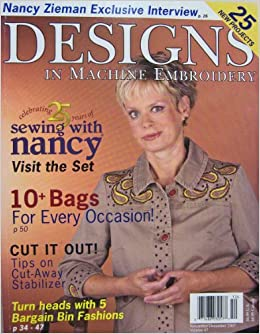 Designs in Machine Embroidery November/December 2007 Volume