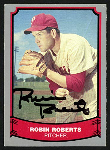 (Robin Roberts Autographed Signed Memorabilia 1988 Pacific Baseball Legends Card #15 Philadelphia Phillies 151350 - Certified Authentic)