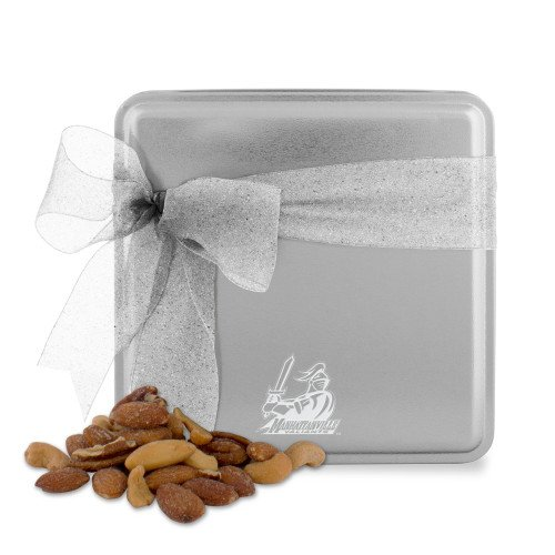 Manhattanville Deluxe Nut Medley Silver Medium Tin 'Primary Mark Engraved'