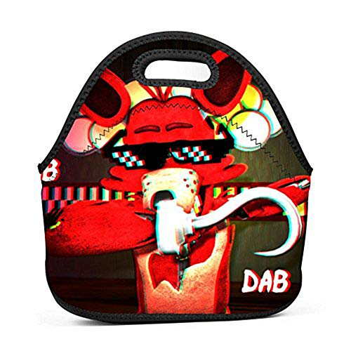 - WMCGMZE Lunch Bag My Dabbing Foxy Gourmet Lightweight Cool Lunch Tote Bag Insulated Neoprene