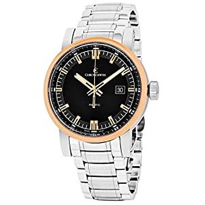 Chronoswiss Pacific Men's Black Dial Brown Leather Strap Rose Gold Automatic Swiss Watch CH-2882B-BK2