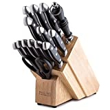 Maestro Cutlery Volken Series German High Carbon Stainless Steel Professional Knifes – 15 Piece Knife Set
