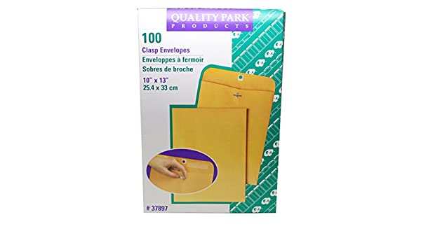 100 Envelopes - KE-4 Quality Park - 10 x 13 Large Manila Clasp Envelope