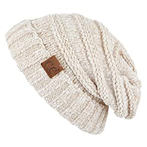 C.C Hatsandscarf Exclusives Unisex Beanie Oversized Slouchy Cable Knit Beanie (HAT-100)