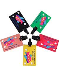 Zacro Travel luggage tags for bag or suitcase, 5 pcs of luggage tags, Ideal by plane, train, bus or car