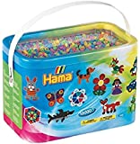 Hama Beads 10,000 Beads in a Bucket - Pastel Mix