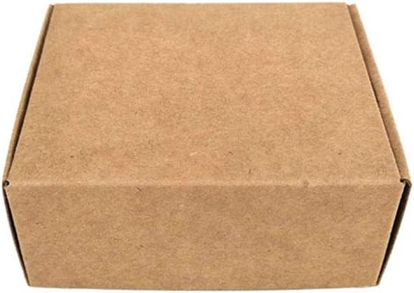 Bverionant 50 Unidades Caja de Papel Kraft, Cajita de Cartón Rectángula para Regalo Fiestas Bodas Galletas y Joyas 4 * 4 * 2.5cm: Amazon.es: Hogar