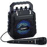 SoundBeast Firebird Karaoke Machine & Portable PA Speaker System For Kids & Adults - With Lights, Microphone, Bluetooth (Black)