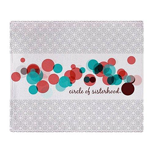 (CafePress Circle of Sisterhood Logo Soft Fleece Throw Blanket, 50