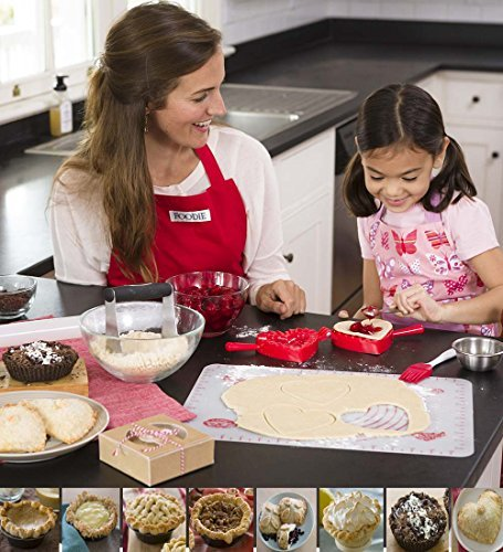 HearthSong® Crafty Creations Mini Pie Making Baking Kit for Kids - Includes Cooking Tools and Gift Boxes