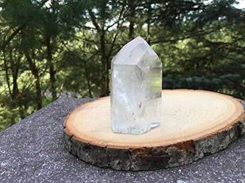 Exquisite Brazilian Quartz Crystal Specimen With Inclusions Meditation Showpiece