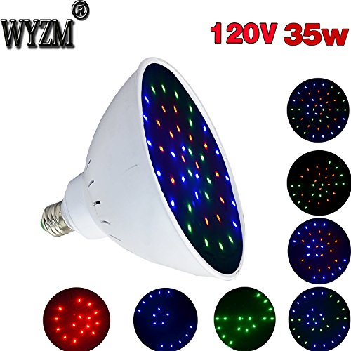 WYZM 120V 35Watt Color Changing LED Pool Light Bulb for Inground Pool, Fit in for Pentair and Hayward Pool Light Fixtures (120V 35W Colorful)