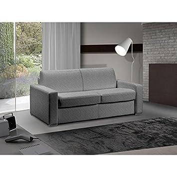 ITALIAN SPIRIT Sofá Cama 3 - 4 plazas Master Convertible Apertura Rapido 160 cm Tweed Cross Gris Silex colchón 18 cm Incluye: Amazon.es: Hogar