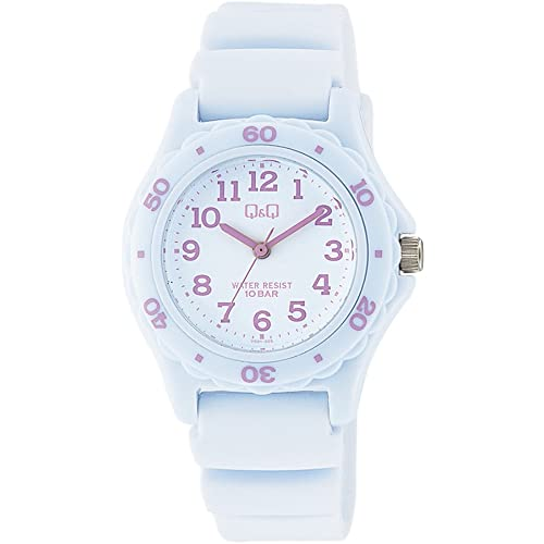 [シチズン キューアンドキュー]CITIZEN Q&Q 腕時計 ダイバー 10気圧防水 ウレタンベルト ホワイト パープル VS01-005