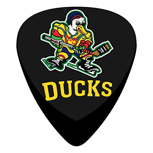 Pimalico Classic DUCKS Design Picks (12 Pack,) for Electric Guitar, Acoustic Guitar, Mandolin, and Bass/Black