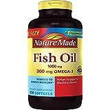 Nature Made Fish Oil 1000 mg w. Omega-3 300 mg Softgels 250 Count Mega Size