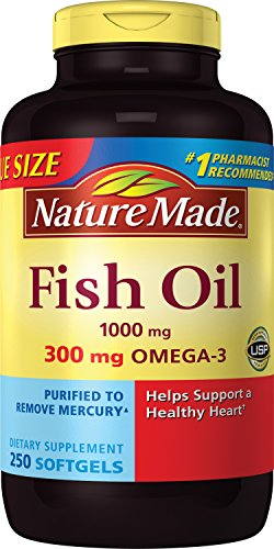 (Nature Made Fish Oil 1000 mg w. Omega-3 300 mg Softgels 250 Count Mega Size)