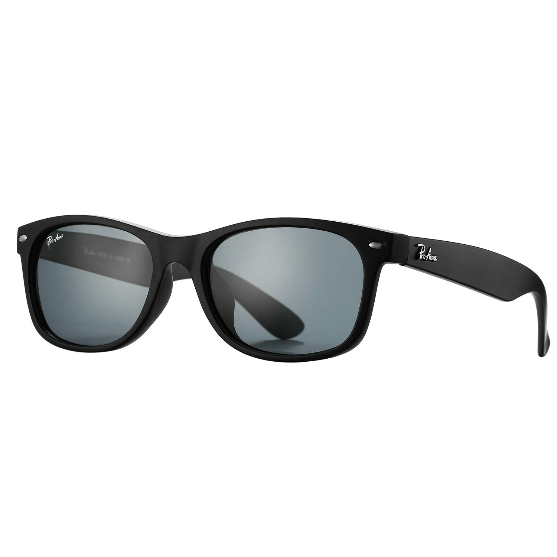 Pro Acme Square Polarized Sunglasses for Men Women 80's Retro Stylish Frames (Matte Black Frame/Grey Lens) by Pro Acme