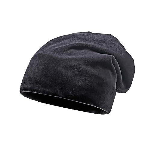 c462287abf Amazon.com: Clearance DEATU Solid Color Hat Unisex Warm Knit Hat Thick  Velvet Wrap Cap Men Women Hats Special Promotion(Black,One Size): Clothing
