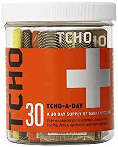 TCHO Chocolate Bar, Tcho-a-Day, 30 Count