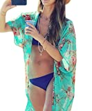 Womens Swimwear Beachwear Bikini Beach Wear Cover up Kaftan Summer Shirt Dress (one size, A)
