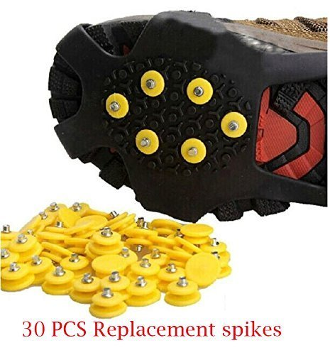 Flywings spikes nail Ice Traction Universal Slip-on Stretch fit Snow Ice Spikes-30 PCS spikes