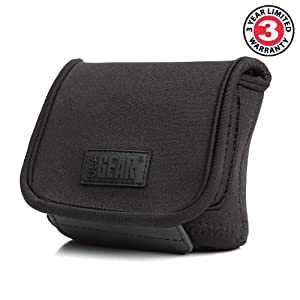 USA GEAR Compact Point and Shoot Camera Case with Scratch Resistant Material , Belt Holster , Accessory Pocket & Velcro Enclosure - Works with Nikon Coolpix S7000 , L32 , S33 & More Digital Cameras from USA GEAR