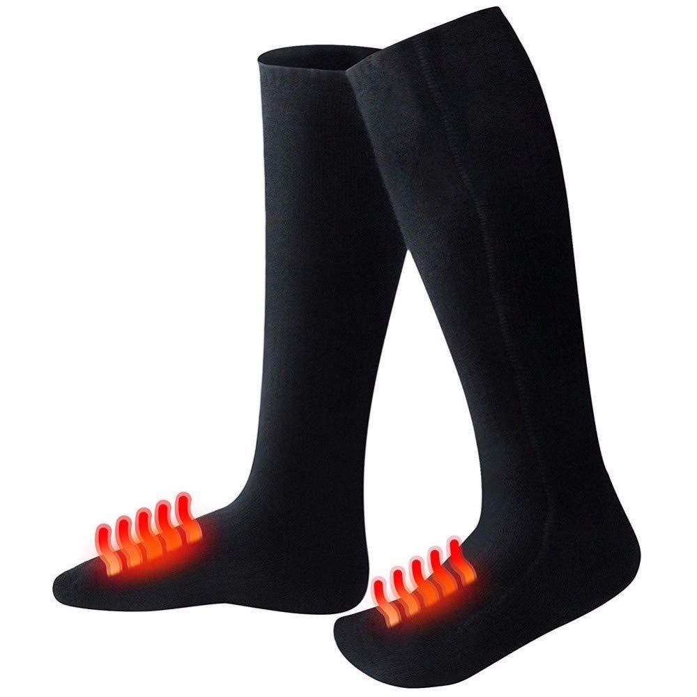 bqmqolove Batería recargable de 1 par Calcetines con calefacción Calentar el pie caliente para mujer y hombre: Amazon.es: Ropa y accesorios