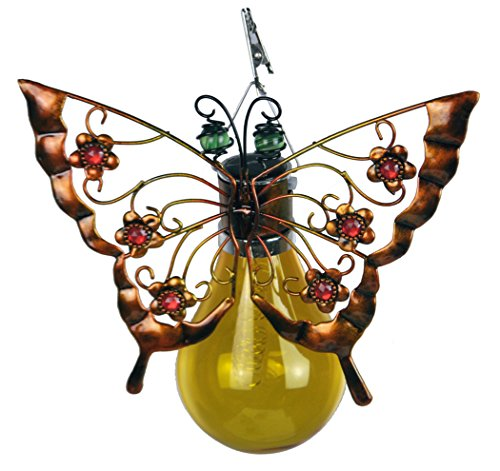 Butterfly Patio Umbrella - Moonrays 90071 Butterfly Umbrella