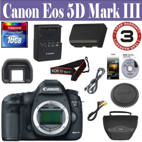 Canon EOS 5D Mark III 22.3 MP Full Frame CMOS with 1080p Ful