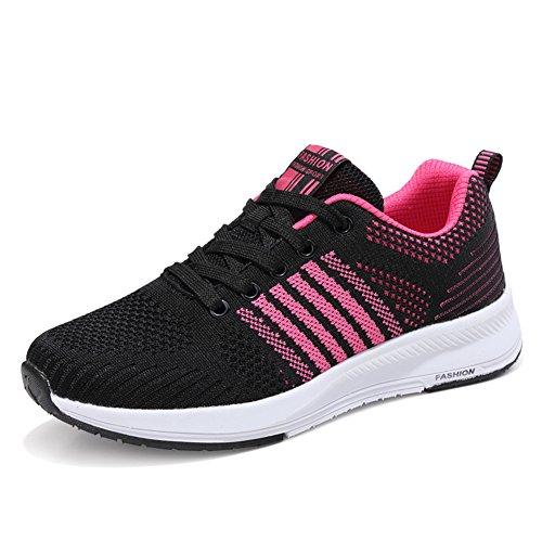 Mujer Gimnasia Ligero Sneakers Zapatillas de Deportivos de Running para Rosa