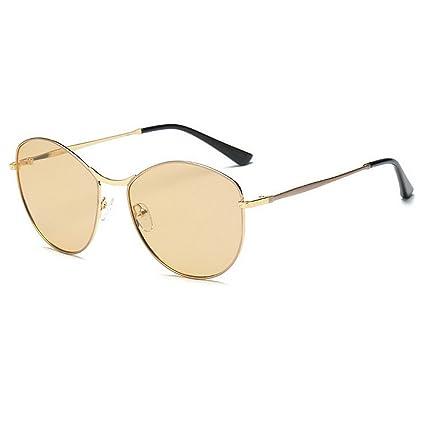 Estilo Simple pequeña Forma Ovalada Gafas de Sol polarizadas ...