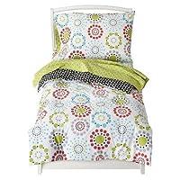 4 Piece Colorburst 100% Cotton Toddler Bedding Set in Light Green by Sumersau...