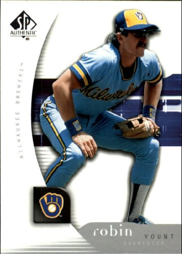 2005 Sp Authentic Baseball Card - 2005 SP Authentic Baseball Card #82 Robin Yount