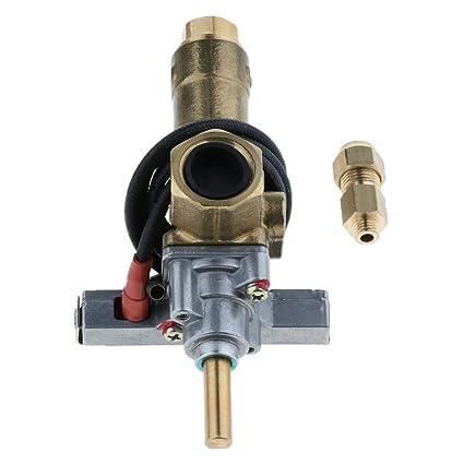 Sharplace Válvula Control de Quemador Estufa Gas La Izquierda Con Cable Encendido 21mm