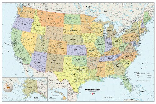 Usa Dry Erase Map Decal ()