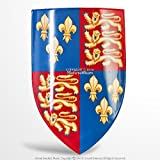 Fleurs De Lis Henry Coat of Arms of England 18G Steel Medieval Heater Shield