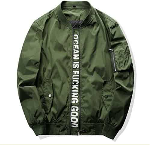 3517920edd447 Marvin Cook Men s Outwear Bomber Jacket Hip Hop Slim Fit Pilot Sporting  Polo Exercise Jackets And