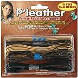 P'leather Cord Variety Pack 54 Feet/Pkg: Black/Brown/Beige