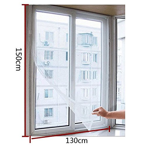 150x130cm Insect Fly Mosquito Bug Window Mesh Screen White - 5