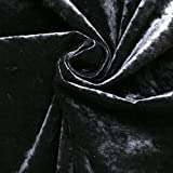 Noir Black Marble Velour Crushed Velvet Plush Soft Furnishing Curtain Cushion Fabric by I Want Fabric